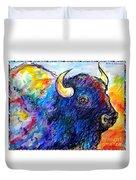 Rainbow Buffalo Duvet Cover
