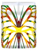 Rainbow Butterfly Abstract Nature Artwork Duvet Cover