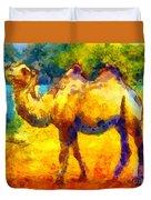 Rainbow Camel Duvet Cover