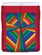 Rainbow Cross Duvet Cover