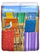 Rainbow Deckchairs Duvet Cover