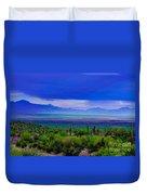 Rainbow Desert Landscape Duvet Cover