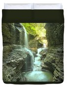 Rainbow Falls Bridge Duvet Cover