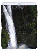 Rainbow Falls Hilo Hawaii Duvet Cover