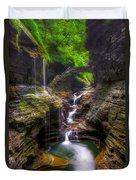 Rainbow Falls Of Watkins Glen Duvet Cover