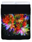 Rainbow Flowers Duvet Cover