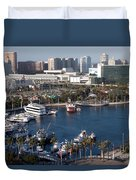 Rainbow Harbor Long Beach Duvet Cover