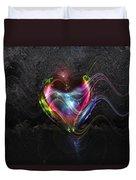 Rainbow Heart Duvet Cover by Linda Sannuti
