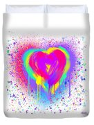 Rainbow Heart Duvet Cover