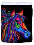 Rainbow Horse Head Duvet Cover