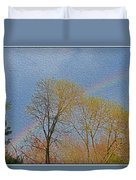 Rainbow In Spring Duvet Cover