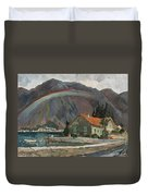 Rainbow In The Mountains Duvet Cover