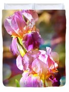 Rainbow Irises Duvet Cover