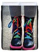 Rainbow Laces Duvet Cover
