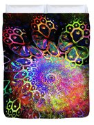 Rainbow Leopard Duvet Cover