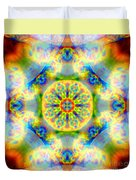 Rainbow Light Mandala Duvet Cover