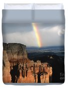 Rainbow Over  Bryce Canyon Duvet Cover