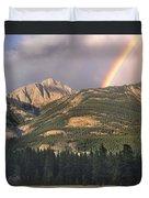 Rainbow Over Colin Range Jasper Np Duvet Cover