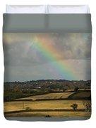 Rainbow Over Fields Duvet Cover
