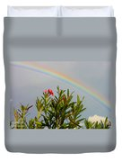 Rainbow Over Flower Duvet Cover