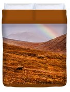 Rainbow Over Grizzly In Denali Duvet Cover