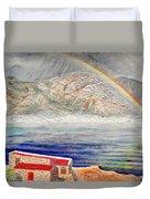 Rainbow Over Hermanus Duvet Cover