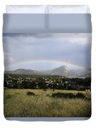 Rainbow Over Lake Estes Duvet Cover