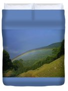 rainbow over Maggie valley Duvet Cover