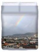 Rainbow Over Oslo Duvet Cover