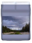 Rainbow Over The Mountains Duvet Cover