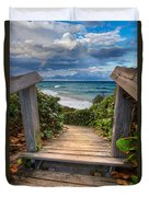 Rainbow Over The Ocean Duvet Cover