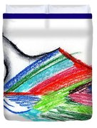 Rainbow Paintbrush Duvet Cover