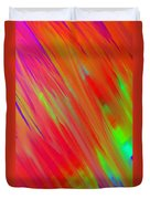 Rainbow Passion Abstract Upper Left Duvet Cover