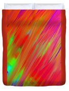 Rainbow Passion Abstract Upper Right Duvet Cover