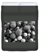 Rainbow Peppercorn Macro Black And White Duvet Cover