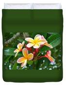 Rainbow Plumeria - No 4 Duvet Cover