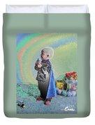 Rainbow Sherbet Little Ninja Boy Duvet Cover