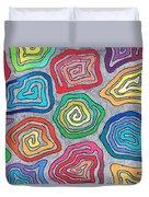 Rainbow Snails Duvet Cover