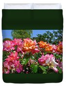 Rainbow Sorbet Roses Duvet Cover by Denise Mazzocco