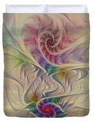 Rainbow Spirals Duvet Cover