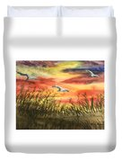 On Wind Of A Rainbow  Duvet Cover