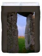 Rainbow Through Stonehenge Sarsens Duvet Cover
