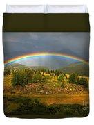 Rainbow Through The Forest Duvet Cover