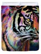 Rainbow Tiger Duvet Cover