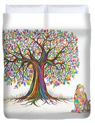 Rainbow Tree Dreams Duvet Cover