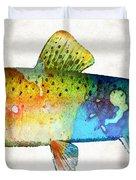 Rainbow Trout Art By Sharon Cummings Duvet Cover