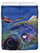 Rainbow Trout Detail B Duvet Cover