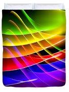 Rainbow Waves Duvet Cover