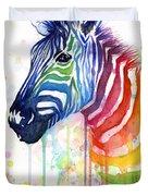 Rainbow Zebra - Ode To Fruit Stripes Duvet Cover