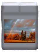Rainbow's End At Rainbow Falls Duvet Cover